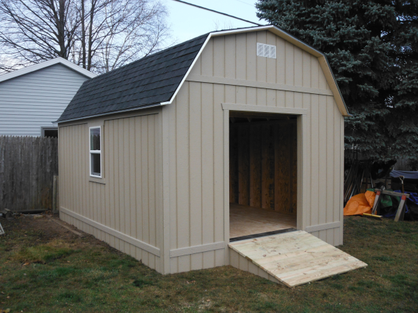 Barn Style 12x16 Shed Ramp Mainus Construction Waterford