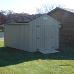 10x14 Gable 7' sides Rear door Waterford #2