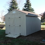 10x14 Gable 7' sides Rear door Waterford #6