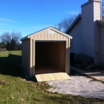 8x16 Gable 7' SIdes with roll up door and ramps Franklin WI #1
