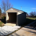 8x16 Gable 7' SIdes with roll up door and ramps Franklin WI #2