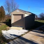 8x16 Gable 7' SIdes with roll up door and ramps Franklin WI #3