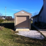 8x16 Gable 7' SIdes with roll up door and ramps Franklin WI #4