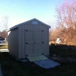 8x16 Gable 7' SIdes with roll up door and ramps Franklin WI #5