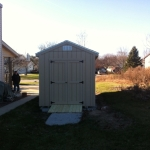 8x16 Gable 7' SIdes with roll up door and ramps Franklin WI #6