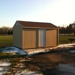 12x16 Gable 7' Sides Steel Entry Door Genessee Town Park #1