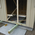 Bracing and wheels for 10x12 on slab Muskego