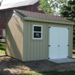 Completed shed 10x12 On slab Muskego