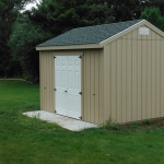 10x12 Gable doors on 12' side of building