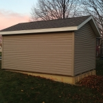 Vinyl siding and aluminum soffit to match the house
