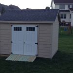 10x12 Gable with LP lap siding Muskego WI