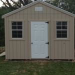 12x12 Gable with single entry door and 2 windows