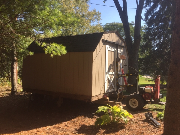 Removing Shed From Back Yard