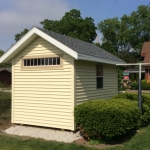 Kansasville Gable with transom window and aluminum soffits and fascia