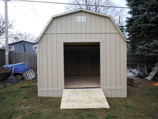 Large custom storage sheds for golf courses